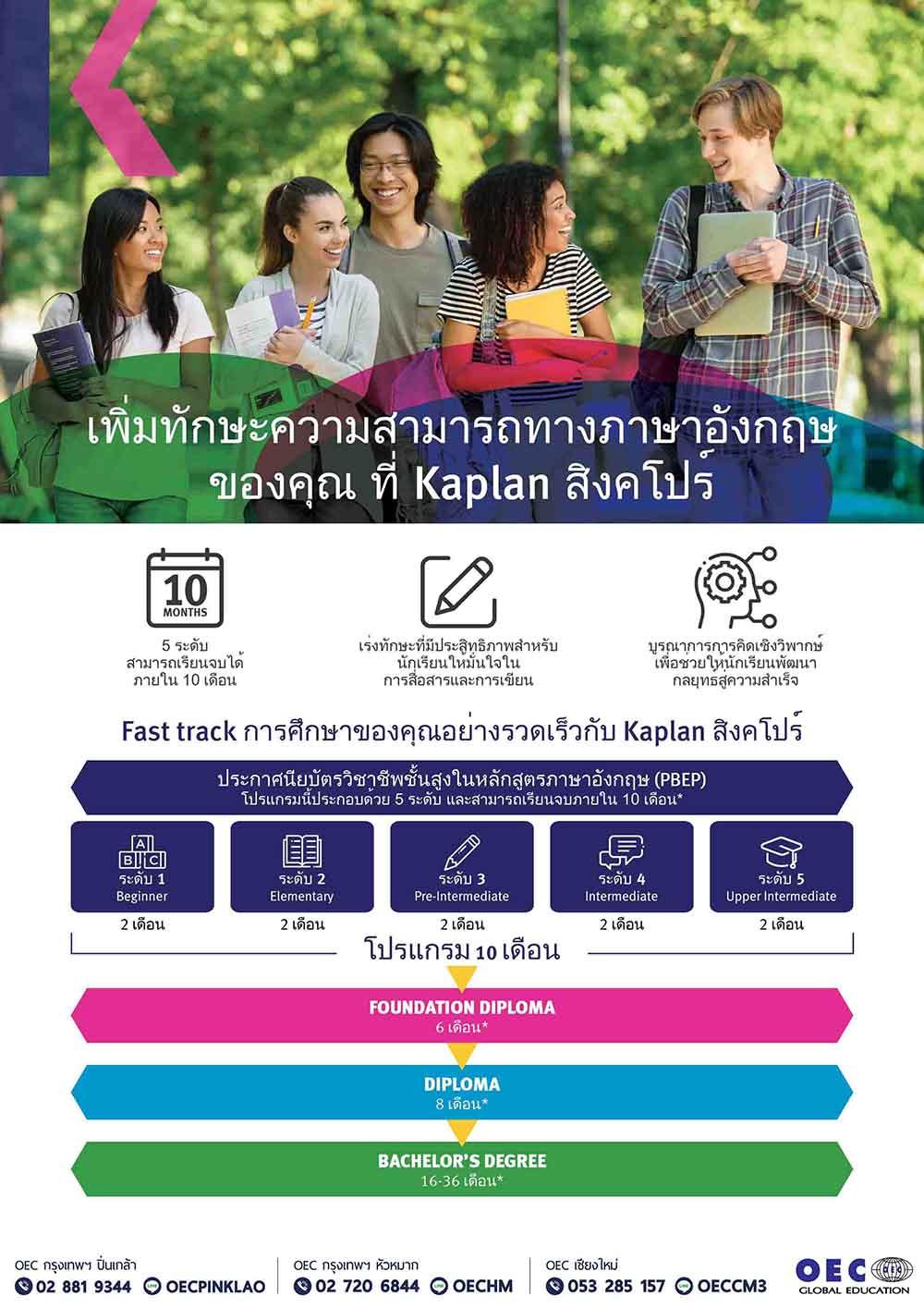 เรียนภาษาอังกฤษที่สิงคโปร์  Kaplan singapore